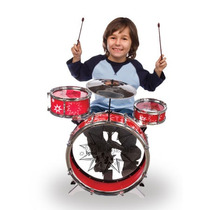Bateria Para Niños Con Platillo + Banco Rock & Music Band