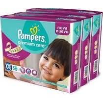 Pampers Premium Care Xxg- 3 Pack De 36 U