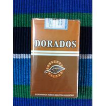 Paquete Cigarrillos Dorados 20 Cerrado Antiguo