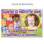 Cartel Cumpleaños Doctora Juguete + 15 Souvenirs Imantados