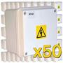 Caja Estanca 50 Unidades Pase Exterior Balun Cámara Empalme