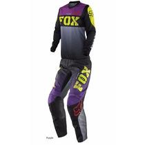 Conjunto Fox 180 Purple Woman Mujer Nico Beach Racing