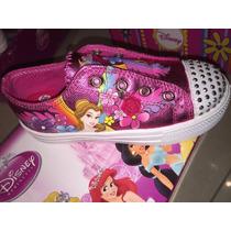 Zapatillas Con Luz Adnice Dysney Minnie Princesas