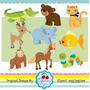 Kit Imprimible Animalitos 15 Imagenes Clipart