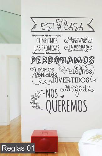 Vinilos Decorativos Reglas De La Casa Cocina Comedor Frase - $ 599 ...