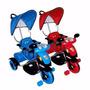 Triciclo+musical+manija Direccional+toldo+bebe+niños+luz+