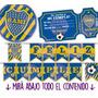 Kit Imprimible Boca Juniors Cumple Candy Bar Invitaciones