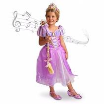 Nuevo Disney Store Disfraz Rapunzel Enredados Y Broche Canta