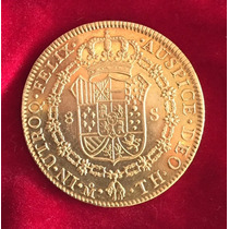 Excelente Moneda De Oro 8 Escudos De 1804 Carlos Iv