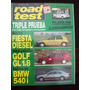 Road Test 71 9/96 Ford Fiesta Diesel Volkswagen Golf Gl 1.8