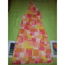 Vestido Zara Woman Diseño Geometrico Color Naranja Coral
