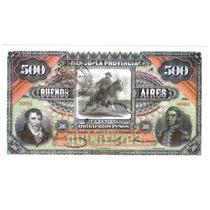 Reproducción Billete Banco Provincia Bs.as., Emitido 1881