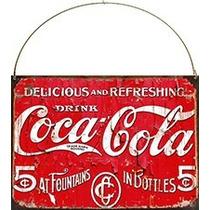 Cartel De Chapa Publicidad Antigua Coca Cola B030