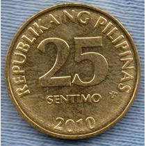 Filipinas 25 Sentimos 2010 * Banco Central *