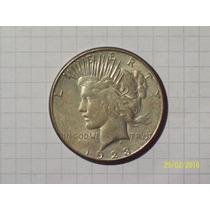 Estados Unidos 1 Dólar De La Paz Plata 1923 Excelente