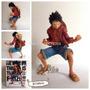 Muñeco Figura De Coleccion One Piece Monkey D Luffy