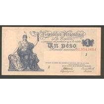 Billete De 1 Peso 1935 Argentina P 251 C, Ley 12.155 !