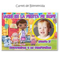 Carteles Cumpleaños Personalizados Doctora Juguetes Minnie