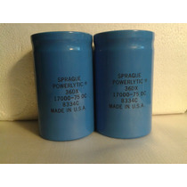 Capacitor Electrolitico Sprague 17.000 Uf. 75 Vdc.