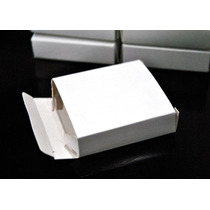 50 Cajas De Cartulina Blancas 6 X 6 X 1,5 Cm