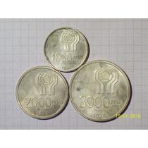 Argentina Mundial 78 1000-2000-3000 Pesos Plata 50 Gr