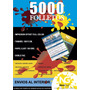 Folletos 10x15cm 4/4 Offset - Papel Ilust. 150grs X 5000u