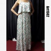 Vestido Largo De Fibrana. Mujer.verano 2016