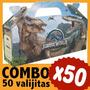 Dinosaurios Jurassic World Cajita Valijita Bolsita Combo X50