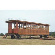 Vagon De Madera Cabaña Vivienda, Oficina Galpon 6x3m