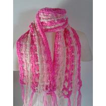 Bufanda Tejida Al Crochet Para Niños/as