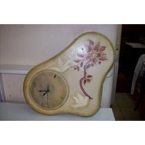 Reloj De Madera Artesanal Pintado A Mano Para Pared
