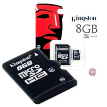 Memoria Kingston Sd 8gb C/adap Celular Cámara Fotos Garantía