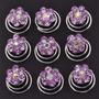Set De 12 Horquillas Twist Lila Con Forma De Flor
