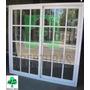 Ventana Aluminio Blanco Reparti 120x150 C/vid Y Reja Puertas