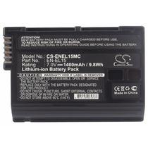 Bateria En-el15 Para Nikon D7000 D800 D12 1 V1 Tec-pro