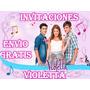 Kit Invitaciones De Cumpleaños De Violetta Personalizadas