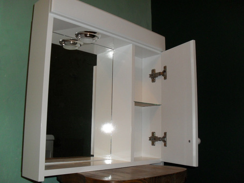 Botiquin con espejo para ba o laqueado con luz peinador botiquines a ars 249 en preciolandia - Focos para espejos de bano ...