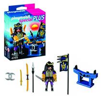 Muñeco Playmobil Samurai Con Estante De Armas Sheshbesh