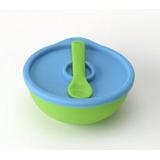 Bowl Silicona C/ Cuchara Para Comer Bebes Atoxico Chocolette