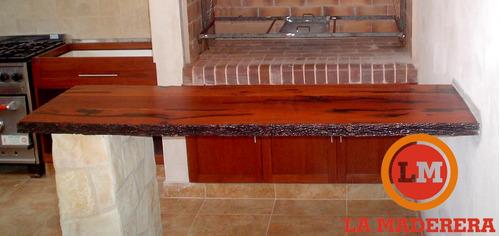 Mesada para cocina comedor desayunador en madera for Desayunador cocina comedor