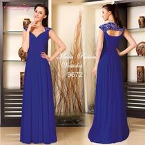 Elegante Vestido De Gala Eventos Fiesta Importad Moda Pasion