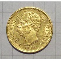 Italia 20 Liras De Oro Umberto I 1882 Excelente