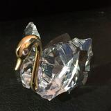 Figura De Cristal Bohemia - Cisne Con Metal