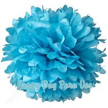 Pompones O Flores De Papel De Seda De 30cm