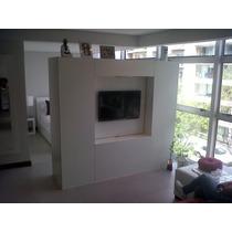 Placard-vestidor-mueble Para Lcd Divisor De Mono Ambiente