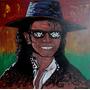 Pintura Michael Jackson - Acrilíco Sobre Madera
