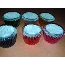 Pirotines Mini Cupcakes Metalizado Nº 8