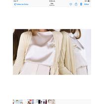 Blusa Seda Color Of White Naima Nueva