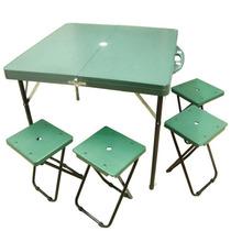 Mesas y sillas mesas de camping con sillas con los mejores for Mesa plegable maletin