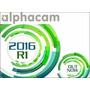 Alphacam 2016 R1 Cad Cam 2/5 Ejes Cnc Madera Piedra Metal!
